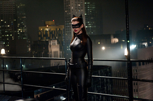 Hathaway as catwomen