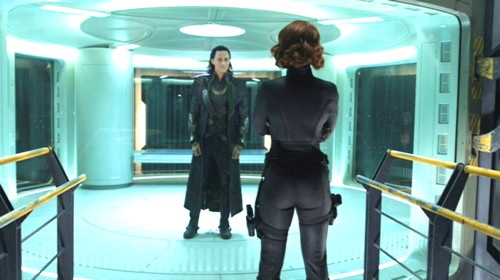 Loki faking to be trapped in the same glass prison all bad guys go to.