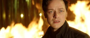 McAvoy brings the end in Trance with flames and blood.