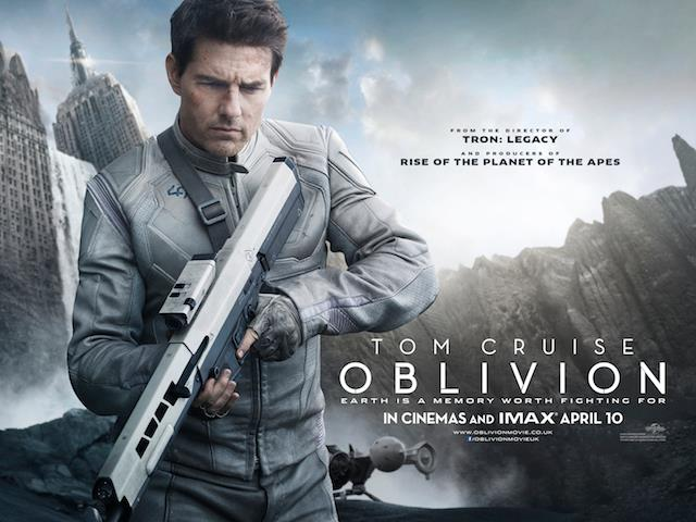 Tom Cruise Is oblivious in Oblivion.