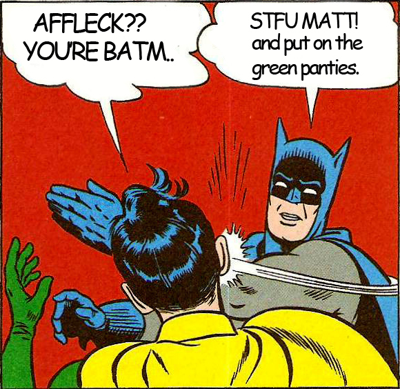 Sometimes you ahve to be cruel to be kind, Batfleck.