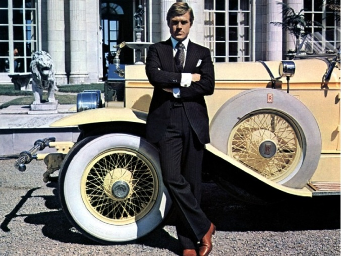 robert redford, the Great Gatsby, the real deal, what a suit.