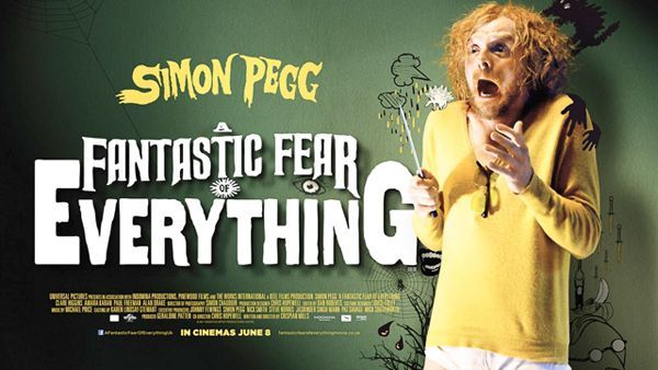 Simon Pegg freaks the hell out in his costume of choice Y briefs.