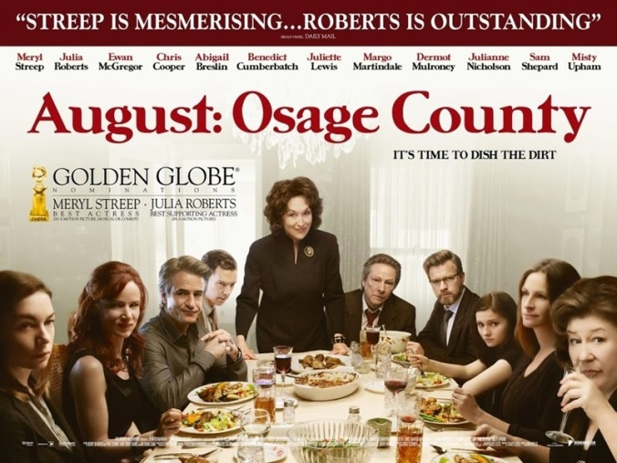 august osage county 71st golden globe nominations, dinner and blood torture