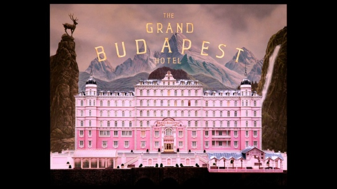 the cut out near silent era nonsense of The Grand Budapest Hotel