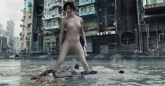 ScarJo playing naked in the water